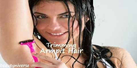 trimming armpit hair
