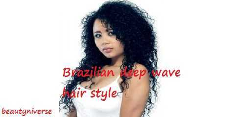 brazilian deep wave wig bundles hairstyles weave closure