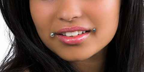 Horizontal Vertical Center Inner Side Lip Piercing Chart Men and Girl